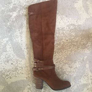 Madden Girl over the knee suede Dutchy boots